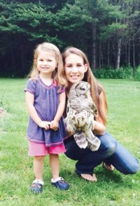 Daughter Harper, seen here with Jessica,  is an active participant in the releases of rehabilitated creatures.                                  Courtesy photo