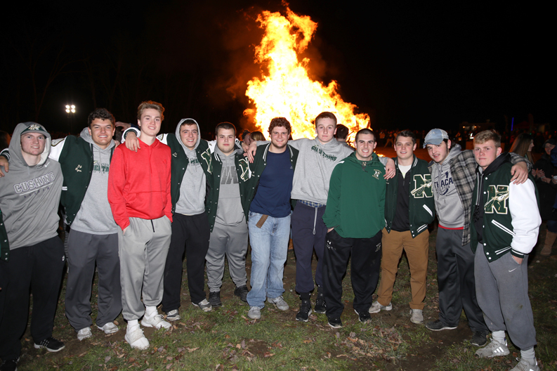 The Chieftains football team were cheered on at Tuesday night's well-attended (and open to the public) Pep Rally and Bonfire held at the Lancaster Fairgrounds. The Chieftains will take on Clinton on Thanksgiving morning at 10:00 a.m. in Clinton and then on to the Div. 4 Super Bowl at Gillette Stadium on Saturday, Dec. 2 at 11:00 a.m.    SusanShaye.com